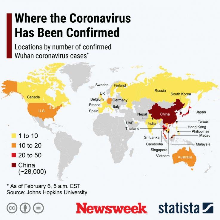 Coronavirus Countries Statista