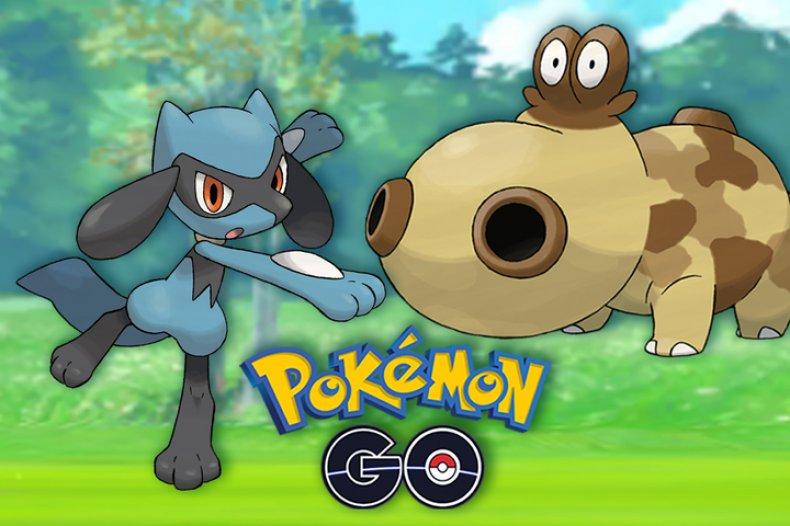 pokemon go sinnoh event riolu hippopotas