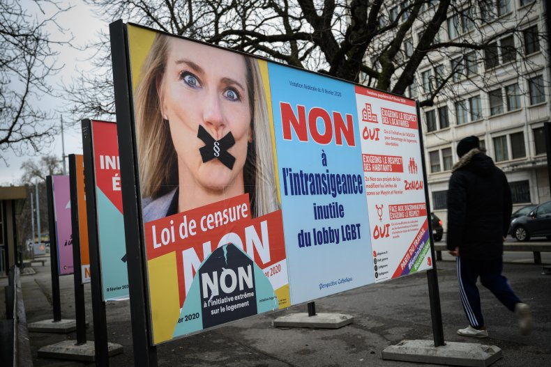 Campaign post against anti-discrimination laws