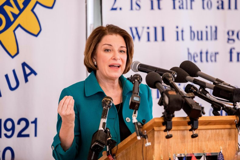Amy Klobuchar Campaigns In New Hampshire