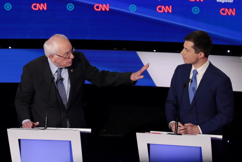 Sanders, Buttigieg