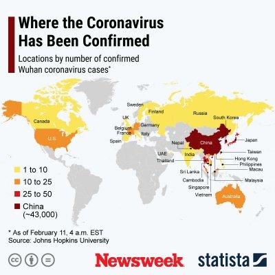 Coronavirus Countries 11 February Statista