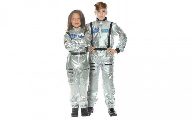 Child's Silver Astronaut Costume