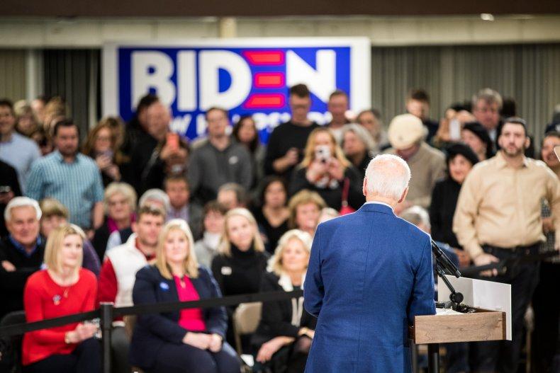 Joe Biden Campaigns In New Hampshire