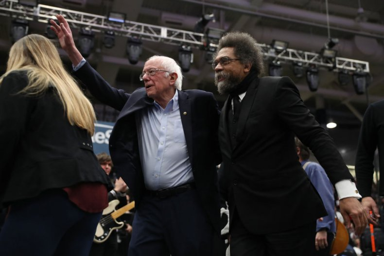 Bernie Sanders Cornel West