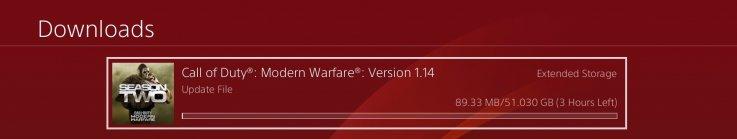 modern warfare 114 file size