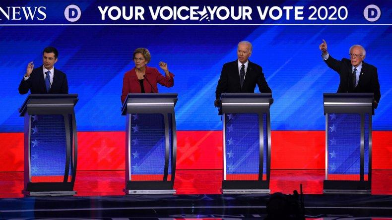 democratic, candidates, buttigieg, biden, warren, sanders