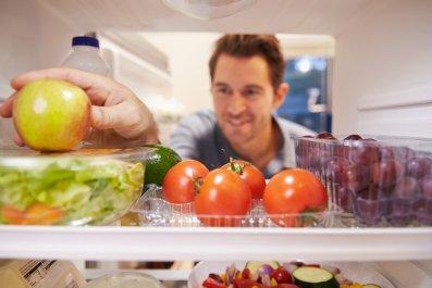 food, fridge, eating, healthy, stock, getty