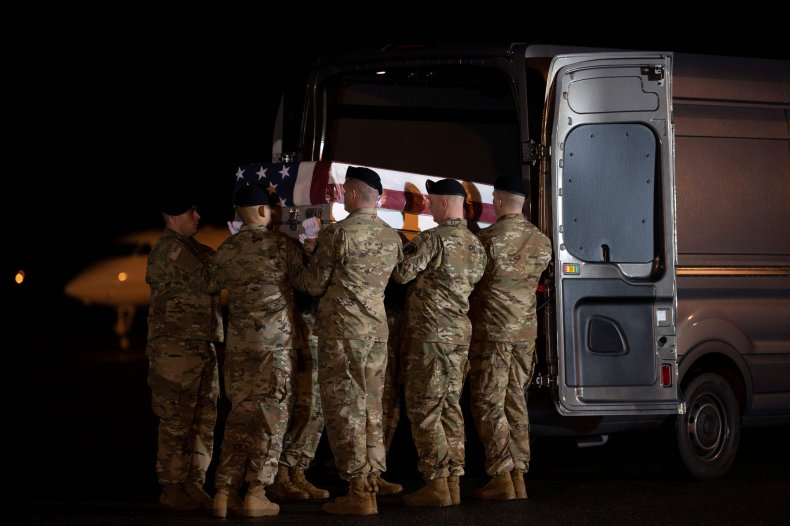 Funeral for soldiers killed in Afghanistan