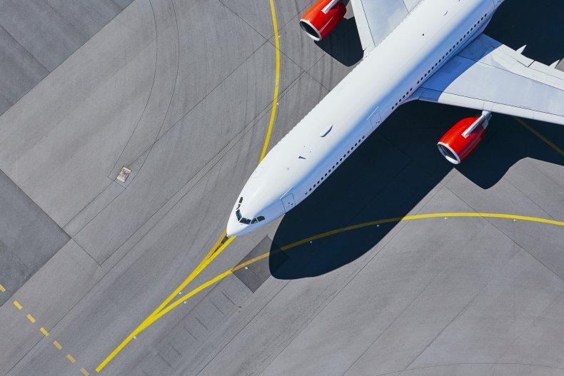 Jet parked on tarmac