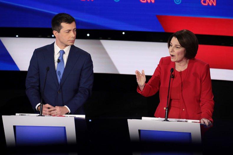 klobuchar buttigieg democratic debate iowa