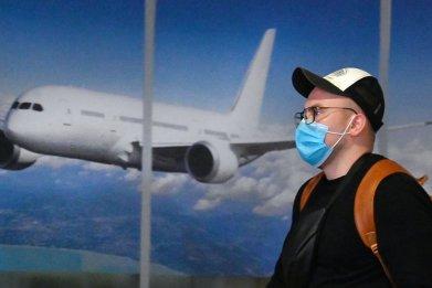 tourist Internatioanal Boryspil airport Ukraine January 2020