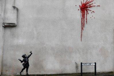 Banksy Valentine's Day mural Bristol February 2020