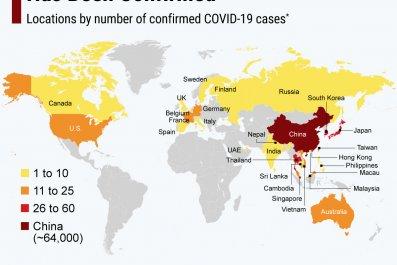 coronavirus case map update