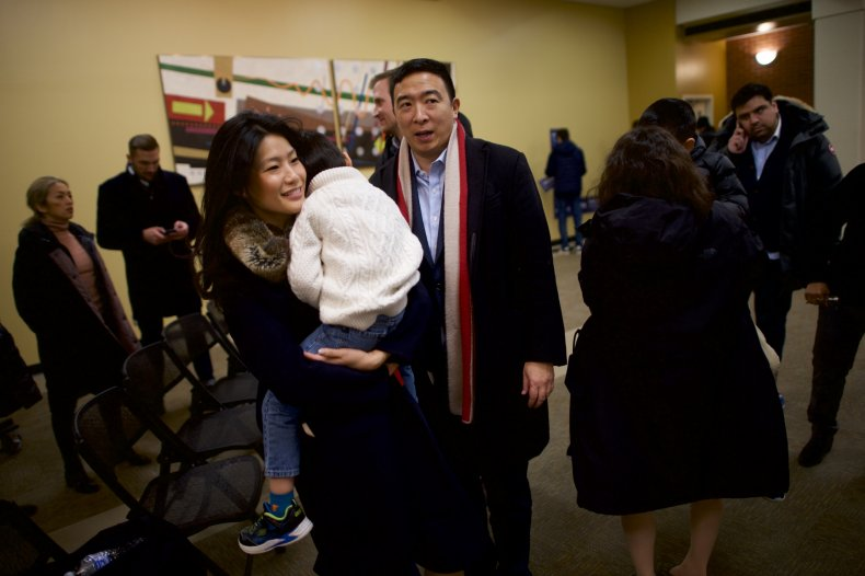 Evelyn Yang and family