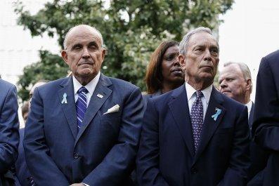 Rudy Giuliani and Mike Bloomberg