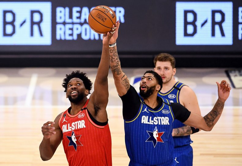 Joel Embiid, Anthony Davis, NBA All-Star Game