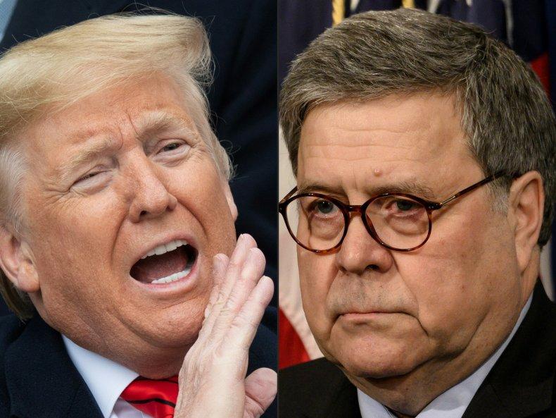 Donald Trump, Bill Barr, crime, syndicate, DOJ