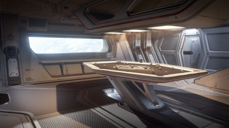 star citizen carrack pool table