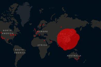 coronavirus update map cases deaths