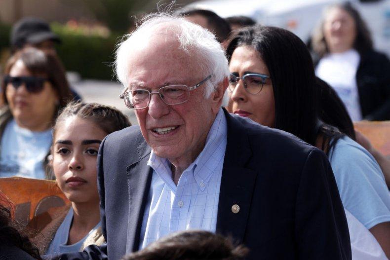 Bernie Sanders at Las Vegas march