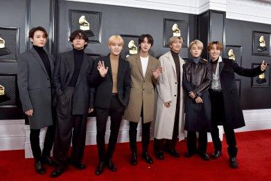 BTS Grammy Awards 2020 red carpet