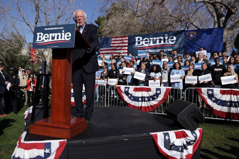 Bernie Sanders Campaigns In Las Vega