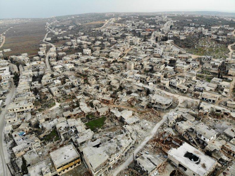 syria, idlib, ihsim, destruction, war