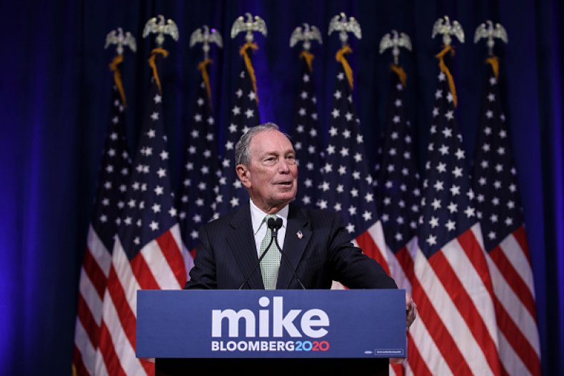 mike bloomberg presidential press conference november 2019