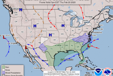 NOAA NWS Forecast February 20 2020