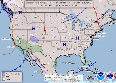 NOAA NWS Forecast February 21, 2020