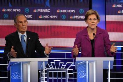 Mike Bloomberg and Elizabeth Warren