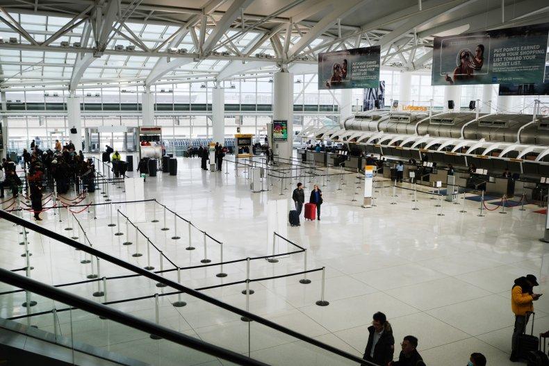 John F. Kennedy Airport NYC January 20