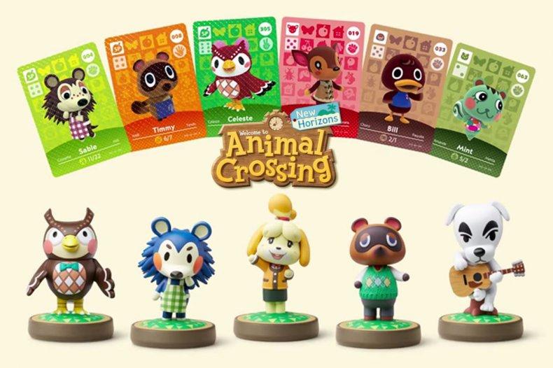 animal crossing new horizons amiibo figures cards