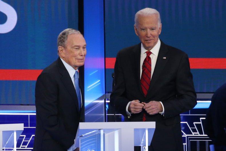 Joe Biden and Mike Bloomberg