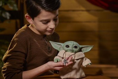Baby Yoda animatronic toy from Hasbro