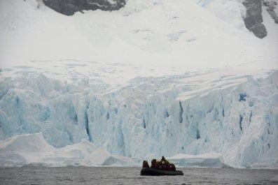 A boat near the western Antarctic peninsula