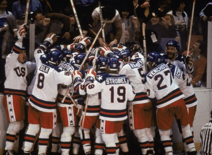 Sports Community and Politicians Pay Homage to the 1980 'Miracle on Ice' U.S. Hockey Team