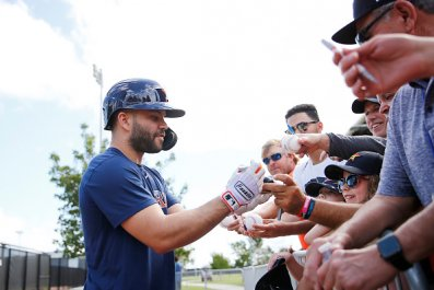 Jose Altuve with Houston Astros