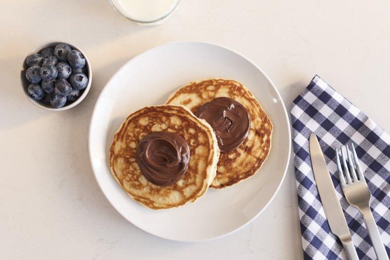 Nutella Pancakes Mardi Gras