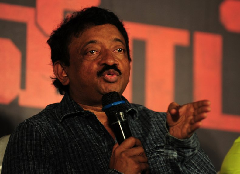 Indian Bollywood director Ram Gopal Varma
