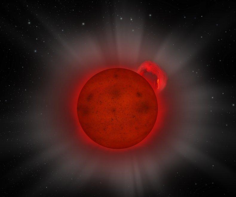 L-dwarf star, super flare