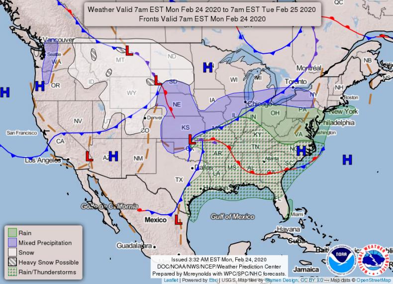 NOAA National Forecast Feb 24 2020