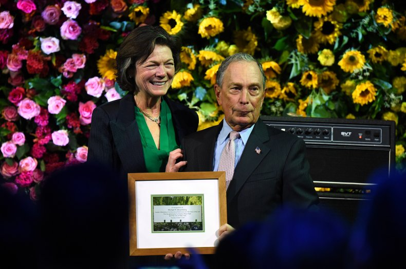 Michael Bloomberg and Diana Taylor