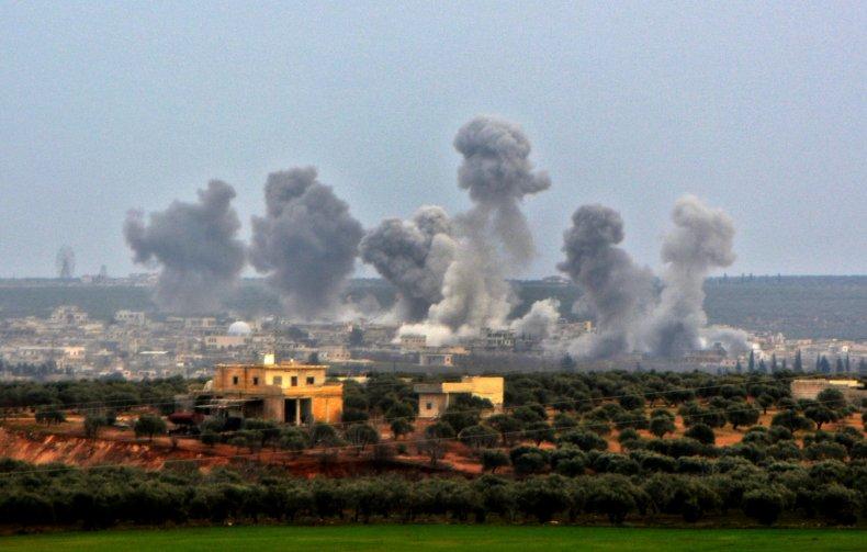 russia, syria, airstrikes, idlib, city, war