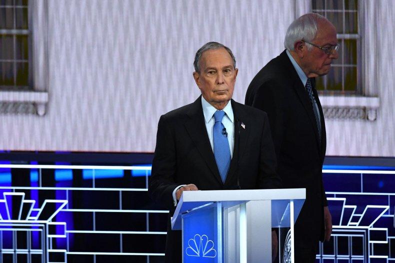 Bernie Sanders (right) Mike Bloomberg