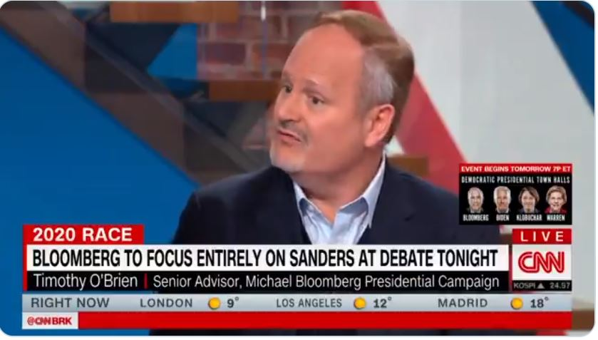 Bloomberg Campaign Adviser Shocks CNN Host By Claiming Bernie Sanders Believes  Women Get Cancer From Having Too Many Orgasms