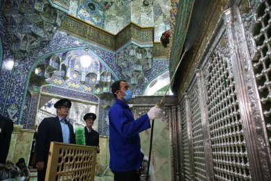 iran, qom, holy, shrine, coronavirus