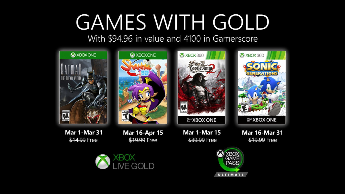 xbox 360 live gold free games list