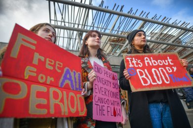 Supporters of Scotland's Period Products Bill